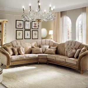 κλασσικός καναπές γωνία ιταλικός