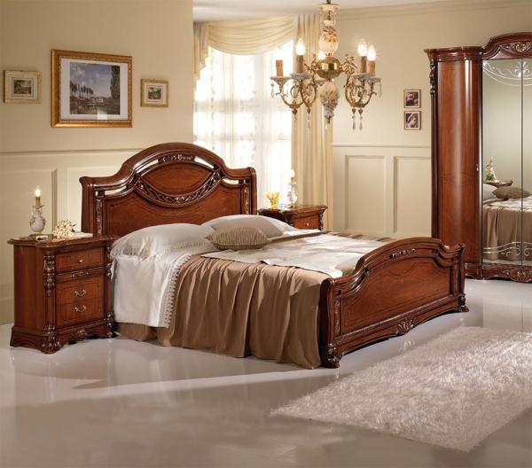 Kρεβάτι κλασσικό ιταλικό καρυδιά