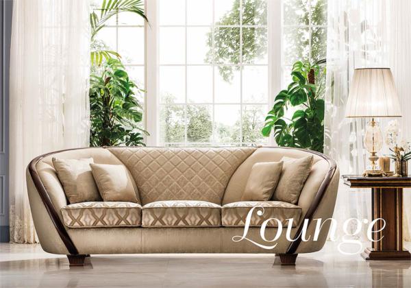 νεοκλασικός καμπύλος καναπές ιταλικός