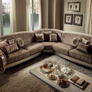 νεοκλασικός γωνιακός ιταλικός καναπές