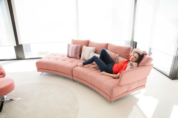 καναπές μοντέρνο ανάκλιντρο με αποσπώμενες πλάτες