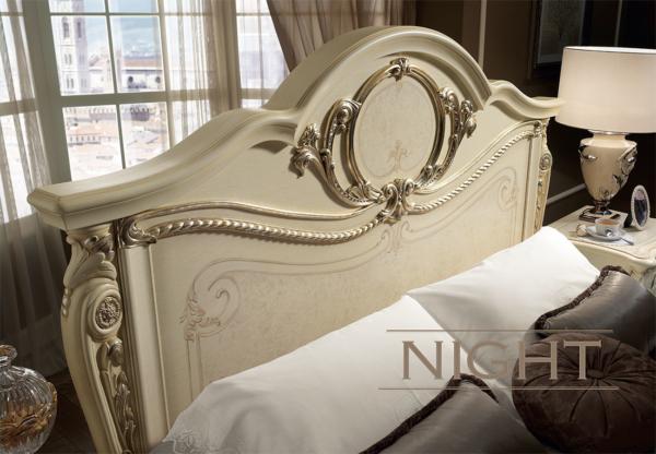 νεοκλασικό κρεβάτι πατίνα