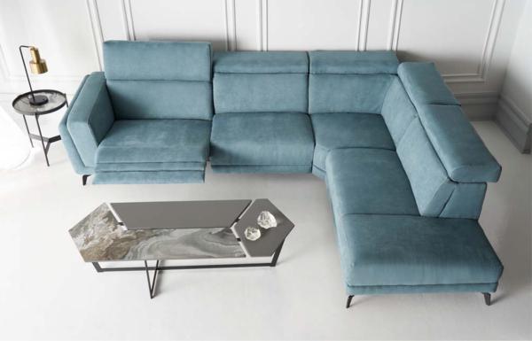 γωνιακός καναπές με μηχανισμούς relax