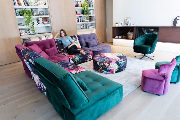 γωνιακός καναπές σε κομμάτια πολυμορφικός