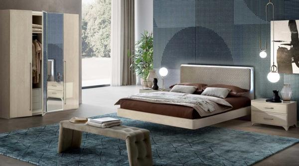 κρεβάτι ιταλικό με φωτισμό