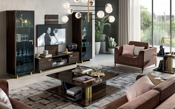 έπιπλο τηλεόρασης σε καφέ χρυσό