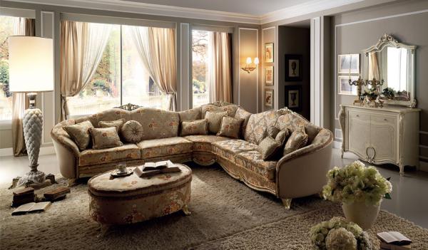 γωνιακός καναπές κλασσικός