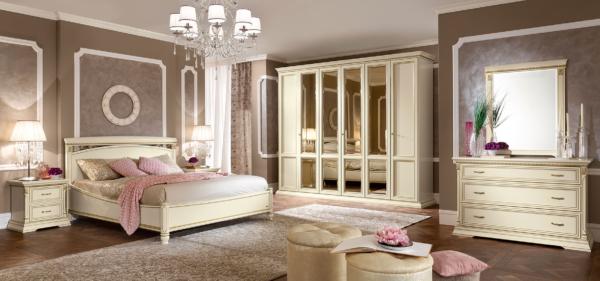 νεοκλασικό κρεβάτι ιταλικό ιβουάρ
